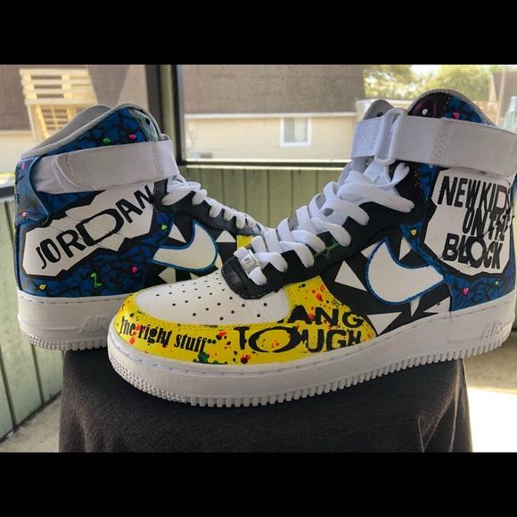 Nike Shoes New Kids On The Block Nkotb Custom Air Force1 Poshmark
